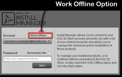 Work Offline Option